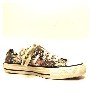 Converse All Star Comic Strip Lace-Up Sneakers 7
